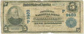 1902 $5 National Currency Bank Note Salt Lake City,