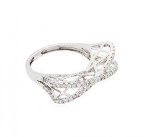 14kt White Gold 0.62ctw Diamond Ring