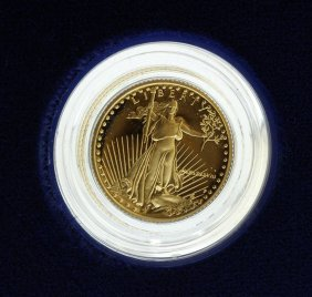 1988 1/10 Oz $5 Gold American Eagle Proof Coin