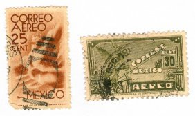 Mexico Postage Stamps Lot Of 2