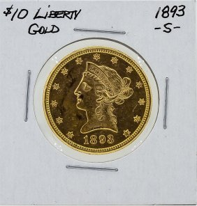 1893-s $10 Liberty Head Gold Coin