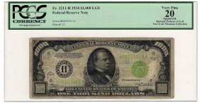 1934-a $1000 St Louis Frn One Thousand Dollar Bill