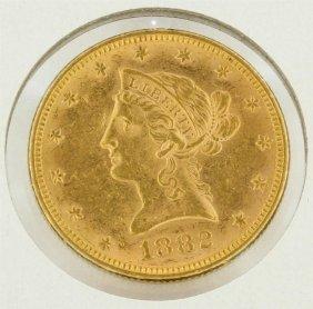 1882 $10 Liberty Head Gold Eagle Coin