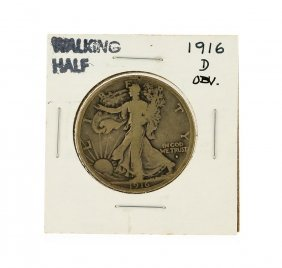 1916-d Obverse Walking Liberty Half Dollar