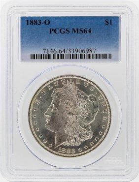 1883-o $1 Morgan Silver Dollar Pcgs Graded Ms64