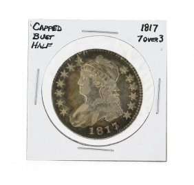 1817 7 Over 3 Capped Bust Half Dollar Coin