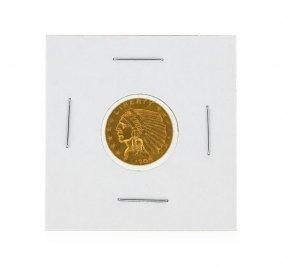 1908 $2 1/2 Indian Head Quarter Eagle Gold Coin Au