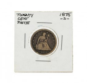 1875-s Twenty Cent Piece Seated Liberty Silver Coin