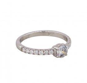 14kt White Gold .56ctw Round Cut Diamond Wedding Ring