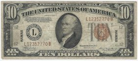 1934a $10 Federal Reserve Emergency Hawaii Note