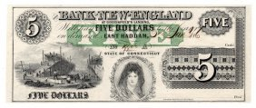 1865 $5 The Bank Of New England Goodspeed's Note