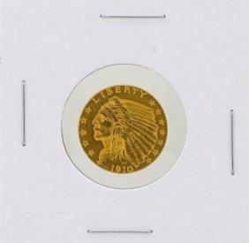 1910 $2.5 Indian Head Quarter Eagle Gold Coin Cu