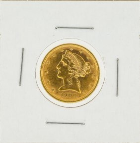 1900 $5 Liberty Head Gold Coin Au