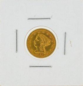 1873 $2 1/2 Liberty Head Gold Coin Au