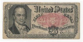 1875 Fifty Cents Fractional Currency Note
