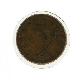 1851 Large Cent Braided Hair Coin