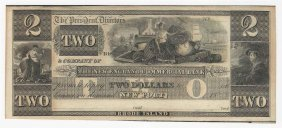 1800s $2 New England Commercial Bank Obsolete Note