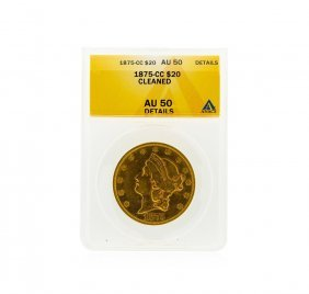 1875-cc $20 Liberty Head Double Eagle Gold Coin Anacs