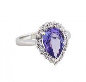 14kt White Gold 2.62ct Tanzanite And Diamond Ring
