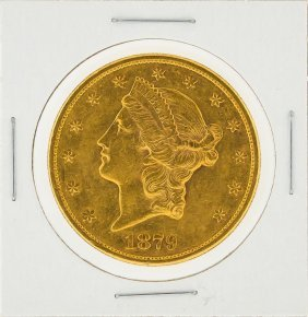 1878-s $20 Liberty Head Double Eagle Gold Coin Xf