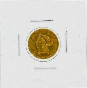 1873 $2.5 Xf Liberty Head Gold Coin
