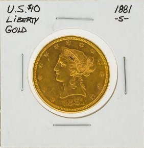 1881-s $10 Liberty Head Gold Coin