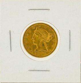 1854 $5 Liberty Head Half Eagle Gold Coin