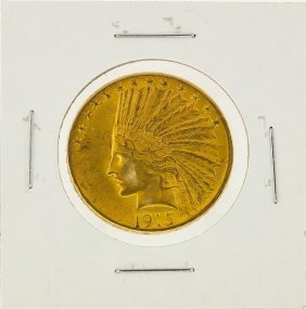 1915 $10 Indian Head Eagle Gold Coin