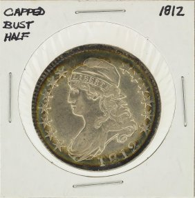 1812 Capped Bust Half Dollar Silver Coin