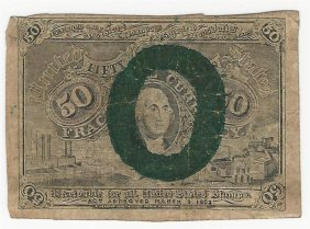 March 3, 1863 Fifty Cent Second Issue Fractional Note