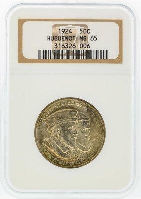 1924 Huguenot-walloon Tercentary Half Dollar Coin Ngc