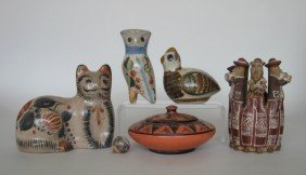 11 20th C. Mexican Ceramic Figurines