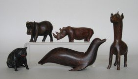 11 Wooden Figures Of Animals