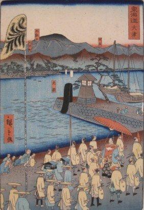 After Hiroshige II Woodblock