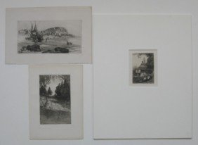 S. Parrish, J. M. Falconer, J. Smille- 3 Etchings