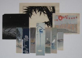 19th / 20th C. Japanese School 10 Woodcuts