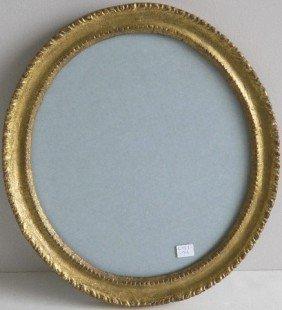 Oval Hand Carved Gilded Frame