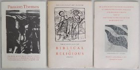 3 Exhibition Catalogs On Prints Biblical Themes