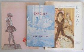 3 Edgar Degas Exhibition Catalogs