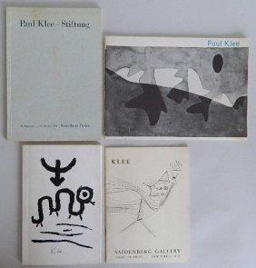 4 Paul Klee Exhibition Catalogs