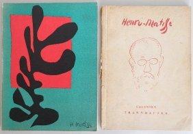 2 Henri Matisse Exhibition Catalogs