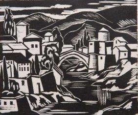 Emil Ganso Linocut