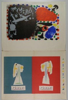 20th C. European School 2 Lithographs