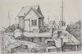 C. M. Goff Pen And Ink
