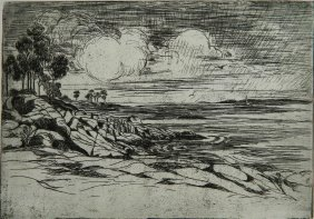 Marion Maxon Healy Etching And Drypoint