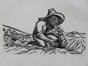 Francisco Mora Woodcut