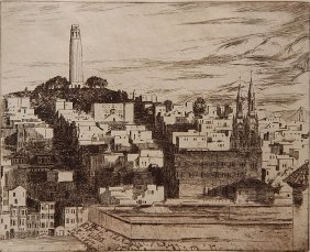 Arthur Powell Etching