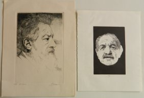 Barry Moser 1 Etching And 1 Wood Engraving