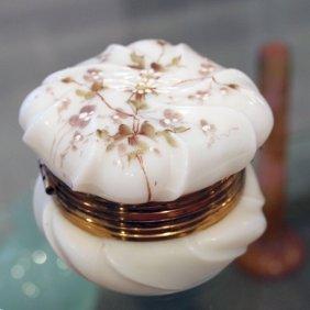 A Wave Crest Victorian Art Glass Box