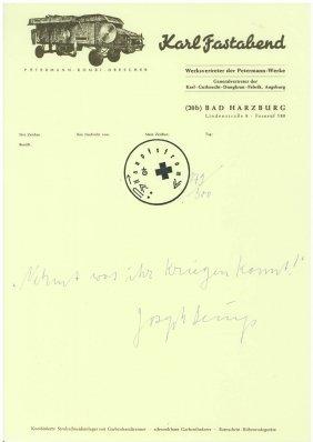 Joseph Beuys, 'Nehmt Was Ihr Kriegen K�nnt!', 1972